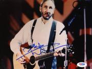 "Pete Townshend Autographed 8""x 10"" The Who Playing Guitar in White Shirt Horizontal Photograph - PSA/DNA COA"