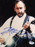 "Pete Townshend Autographed 8""x 10"" The Who Playing Guitar in White Shirt Vertical Photograph - PSA/DNA COA"