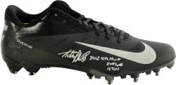 Adrian Peterson Minnesota Vikings Autographed Nike Game Model Right Cleat with Multiple Inscription - Mounted Memories