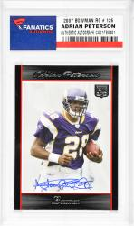 Adrian Peterson Minnesota Vikings Autographed 2007 Bowman #126 Rookie Card  - Mounted Memories