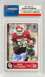 Adrian Peterson Oklahoma Sooners Autographed 2007 Sage #28 Card