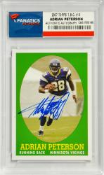 Adrian Peterson Minnesota Vikings Autographed 2007 Topps T.B.C. #9 Card - Mounted Memories