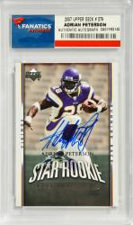 Adrian Peterson Minnesota Vikings Autographed 2007 Upper Deck #279 Card