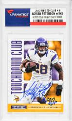 Adrian Peterson Minnesota Vikings Autographed 2013 R&S TD Club #8 Card with ROY 2007 Inscription - Mounted Memories  - Mounted Memories