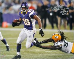 Adrian Peterson Minnesota Vikings Autographed 16'' x 20'' Photograph with ''2012/2097 Yds'' Inscription - Mounted Memories