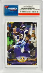 Adrian Peterson Minnesota Vikings Autographed 2013 Topps #117 Card - Mounted Memories