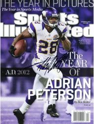 Adrian Peterson Minnesota Vikings Autographed 2012 All Day Sports Illustrated Magazine - Mounted Memories