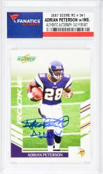 Adrian Peterson Minnesota Vikings Autographed 2007 Score #341 Rookie Card with All Day Inscription - Mounted Memories
