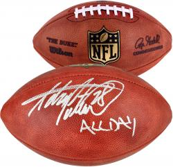 "Adrian Peterson Minnesota Vikings Autographed Pro Football with ""All Day"" Inscription"