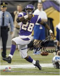 Adrian Peterson Minnesota Vikings Autographed 8'' x 10'' Photograph with ''All Day'' Inscription - Mounted Memories