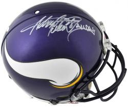 Riddell Adrian Peterson Minnesota Vikings Autographed Pro Line Authentic Helmet with ''All Day'' Inscription - Mounted Memories