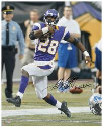 Adrian Peterson Minnesota Vikings Autographed 16'' x 20'' Photograph with ''All Day'' Inscription - Mounted Memories
