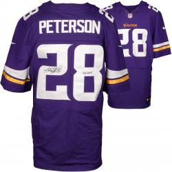 Adrian Peterson Minnesota Vikings Autographed Nike Elite Purple Jersey with All Day Inscription
