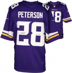 Adrian Peterson Minnesota Vikings Autographed Nike Limited Purple Jersey with All Day Inscription - Mounted Memories