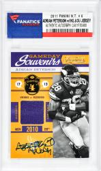 Adrian Peterson Minnesota Vikings Autographed 2011 Panini N.T.#6 Card with All Day Inscription - Mounted Memories  - Mounted Memories