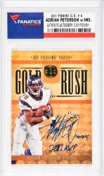 Adrian Peterson Minnesota Vikings Autographed 2011 Panini G.S. #6 Card with Multiple Inscriptions - - Mounted Memories  - Mounted Memories