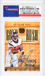 Adrian Peterson Minnesota Vikings Autographed 2011 Panini G.S. #6 Card with Multiple Inscriptions - Mounted Memories  - Mounted Memories