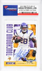 Adrian Peterson Minnesota Vikings Autographed 2013 R&S TD Club #8 Card with 2097 YDS. & 12 TDS Inscription - Mounted Memories  - Mounted Memories