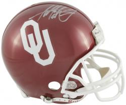 Adrian Peterson Oklahoma Sooners Autographed Pro Line Riddell Authentic Helmet - Mounted Memories
