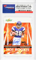 Adrian Peterson Minnesota Vikings Autographed 2007 Score H.R. #HR-3 Card with ROY 2007 Inscription - Mounted Memories  - Mounted Memories