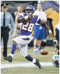 "Adrian Peterson Minnesota Vikings Autographed 16"" x 20"" Running Photograph"