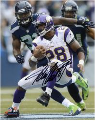 "Adrian Peterson Minnesota Vikings Autographed 8"" x 10"" Black Signature Photograph"