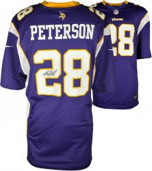 Adrian Peterson Minnesota Vikings Autographed Purple Reebok Replica Jersey - Mounted Memories