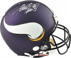 Adrian Peterson Minnesota Vikings Autographed Riddell Pro Line Authentic Helmet - Mounted Memories