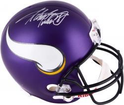 Adrian Peterson Minnesota Vikings Autographed Riddell Replica New Logo Helmet