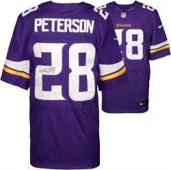 Adrian Peterson Minnesota Vikings Autographed Nike Elite Purple Jersey