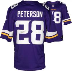 Adrian Peterson Minnesota Vikings Autographed Nike Limited Purple Jersey - Mounted Memories