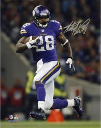 Adrian Peterson Minnesota Vikings Autographed 8'' x 10'' Vertical Running Photograph - Mounted Memories