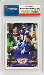 Adrian Peterson Minnesota Vikings Autographed 2013 Topps #117 Card with 2097 YDS Inscription