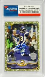 Adrian Peterson Minnesota Vikings Autographed 2013 Topps #117 Card with All Day Inscription - Mounted Memories