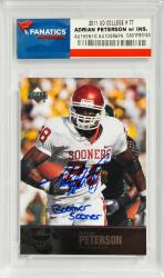 Signed Adrian Peterson Card 2011 UD College #77 - Boomer Sooner