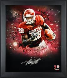 Adrian Peterson Oklahoma Sooners Framed Autographed 20'' x 24'' In Focus Photograph-Limited Edition of 28 - Mounted Memories