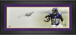 "Adrian Peterson Minnesota Vikings Framed Autographed 10"" x 30"" All Day Photograph-Limited Edition of 28"