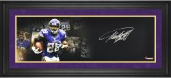 Adrian Peterson Minnesota Vikings Framed Autographed 10'' x 30'' Filmstrip Photograph-Limited Edition of 28 - Mounted Memories