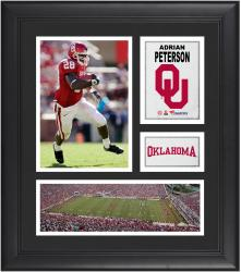 Adrian Peterson Oklahoma Sooners Framed 15'' x 17'' Collage - Mounted Memories