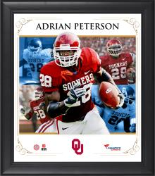 "Adrian Peterson Oklahoma Sooners Framed 15"" x 17"" Core Composite Photograph"