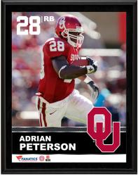 Adrian Peterson Oklahoma Sooners Sublimated 10.5'' x 13'' Plaque - Mounted Memories