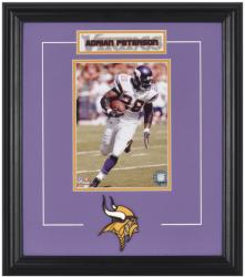 Minnesota Vikings Adrian Peterson Framed Photo and Plate - Mounted Memories