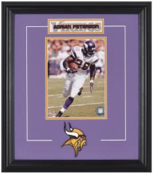 Minnesota Vikings Adrian Peterson Framed Photo and Plate