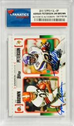 Adrian Peterson Minnesota Vikings & Jim Brown Cleveland Browns Dual Autographed 2007 Topps #GL-BP Card - Mounted Memories