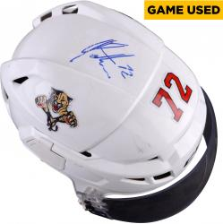 Alex Petrovic Florida Panthers Autographed Game-Used White Hockey Helmet