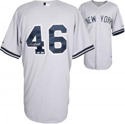 Andy Pettitte New York Yankees  Autographed Authentic Gray Jersey - Mounted Memories