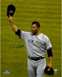 Andy Pettitte New York Yankees Autographed 16'' x 20'' Tipping Cap Photograph - Mounted Memories