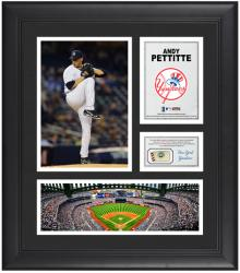 "Andy Pettitte New York Yankees Framed 15"" x 17"" Collage with Game-Used Baseball"
