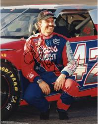 Kyle Petty Autographed 8'' x 10'' Sprint PCS Squatting By Car Photograph