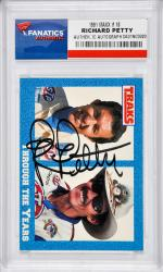Richard Petty Autographed 1991 Maxx #18 Card - Mounted Memories